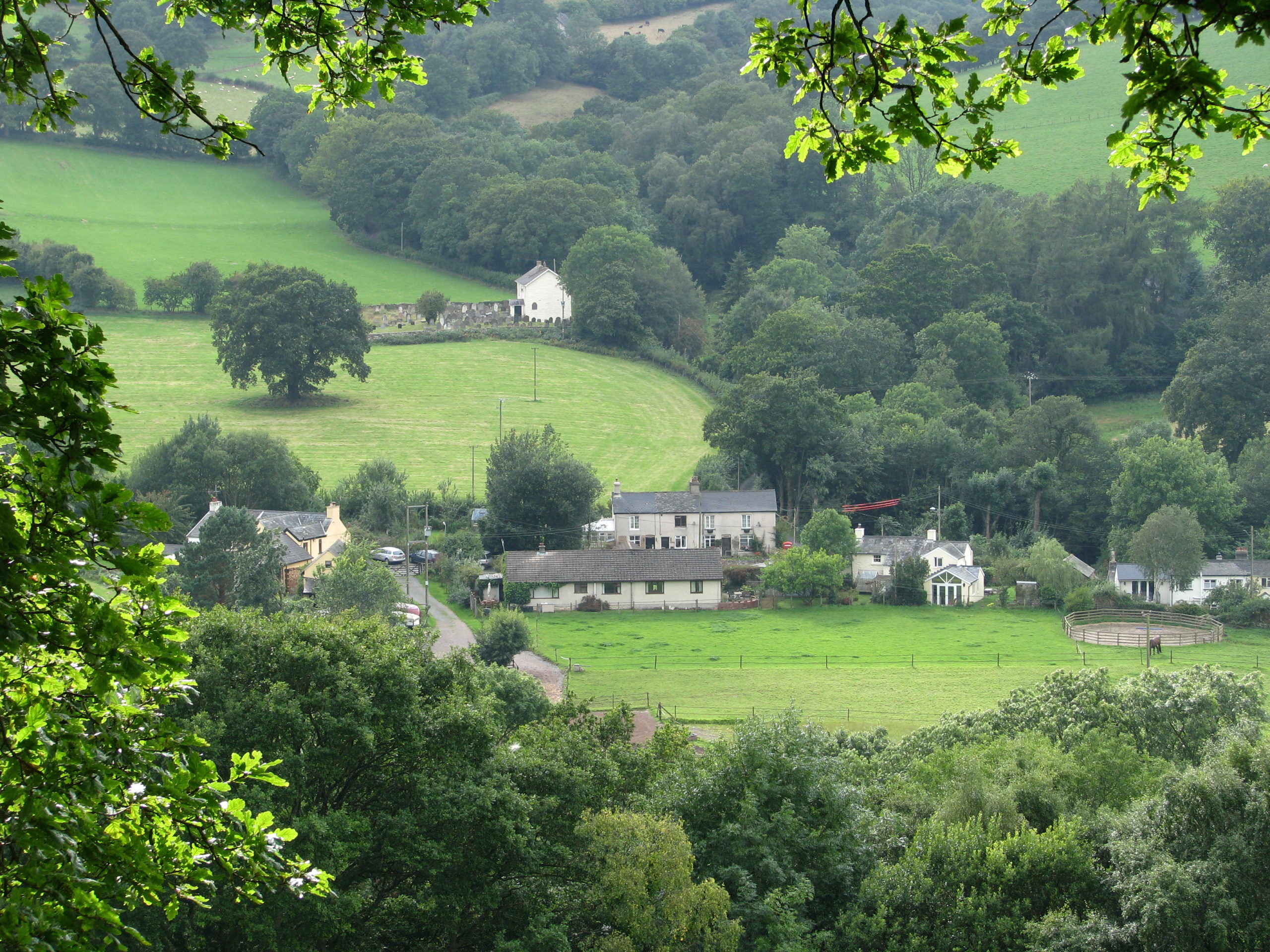 Aber village from the tramroad