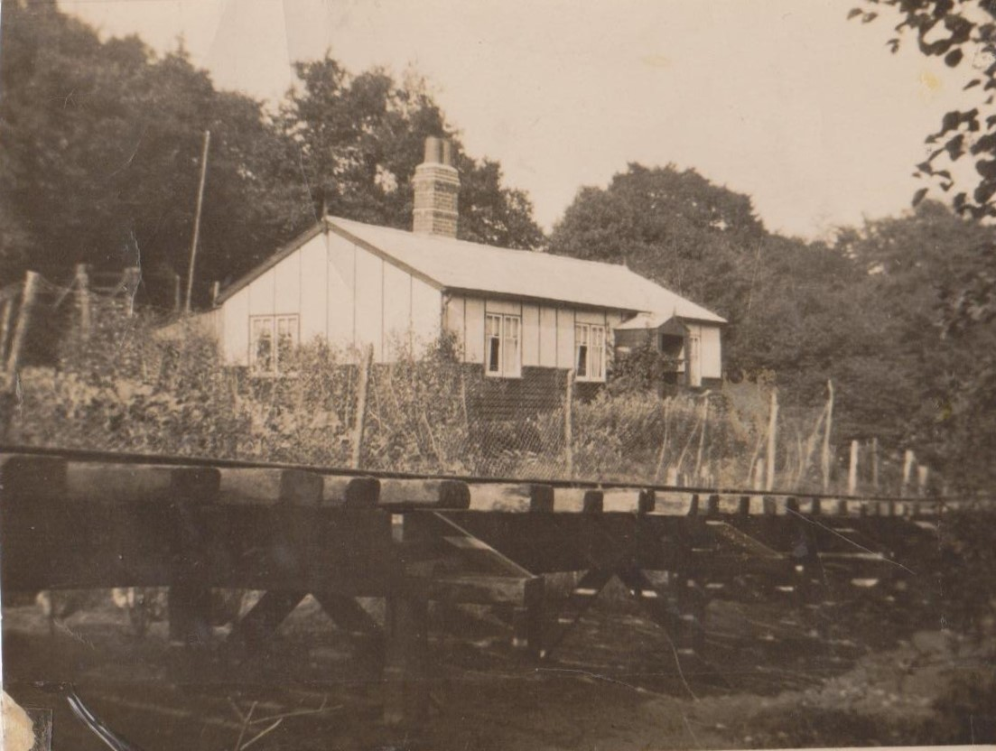 Glanclydach with railway from the reservior quarry at Aber on trestles 1936