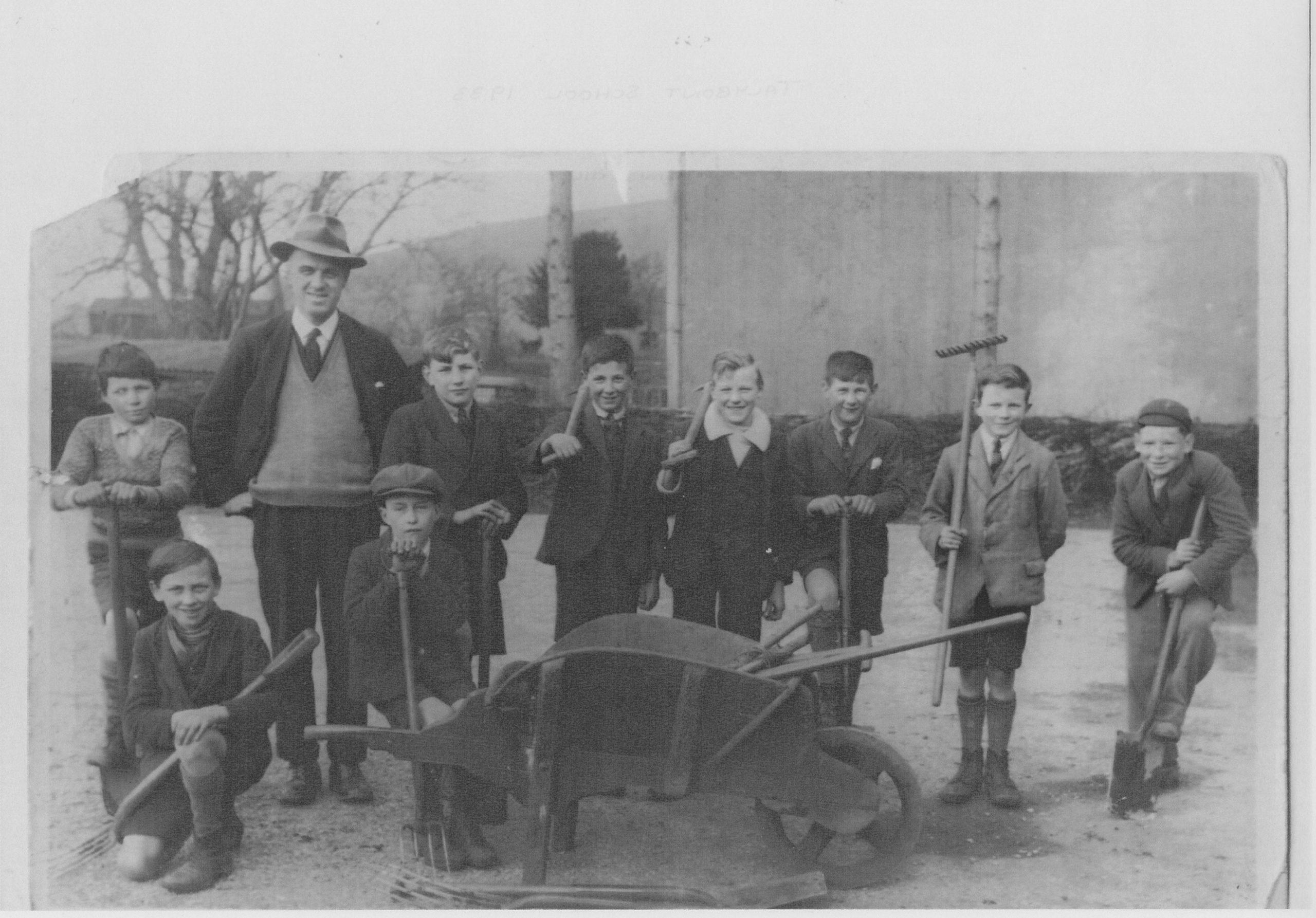 Talybont School Gardening 1932