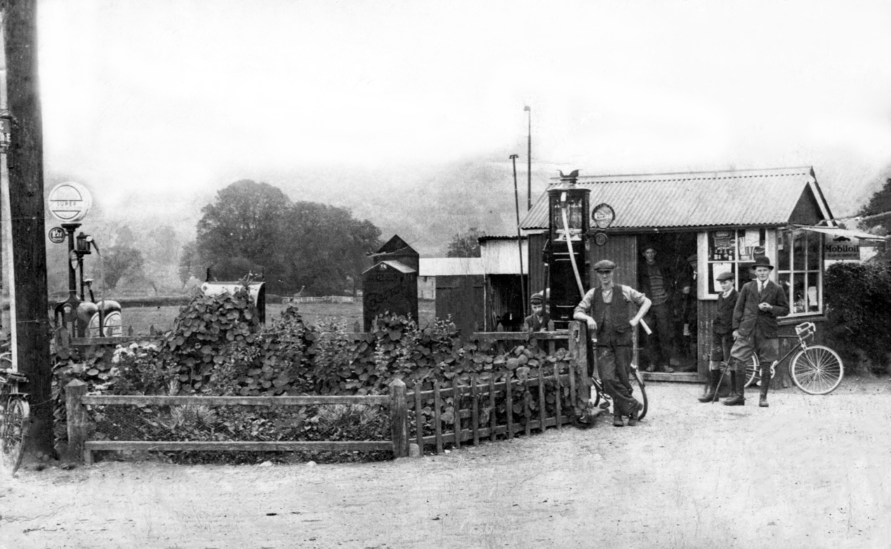 Site of the Shrine and garden Station Road junction Talybont