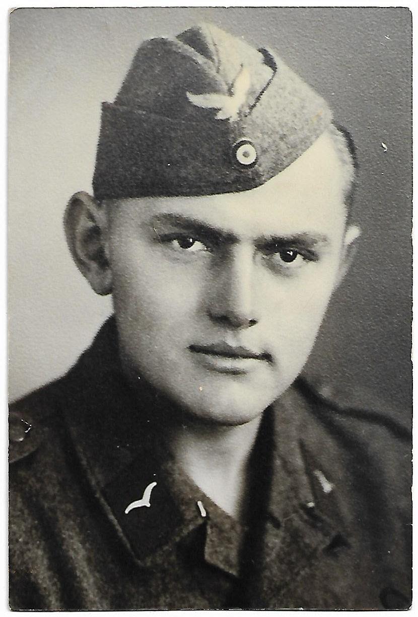 Rudi Hansel as a young conscript