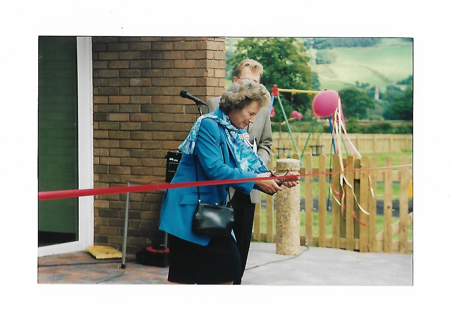 Operning the refurbished playground by Sian Legge Burke High Sherrif of Powys