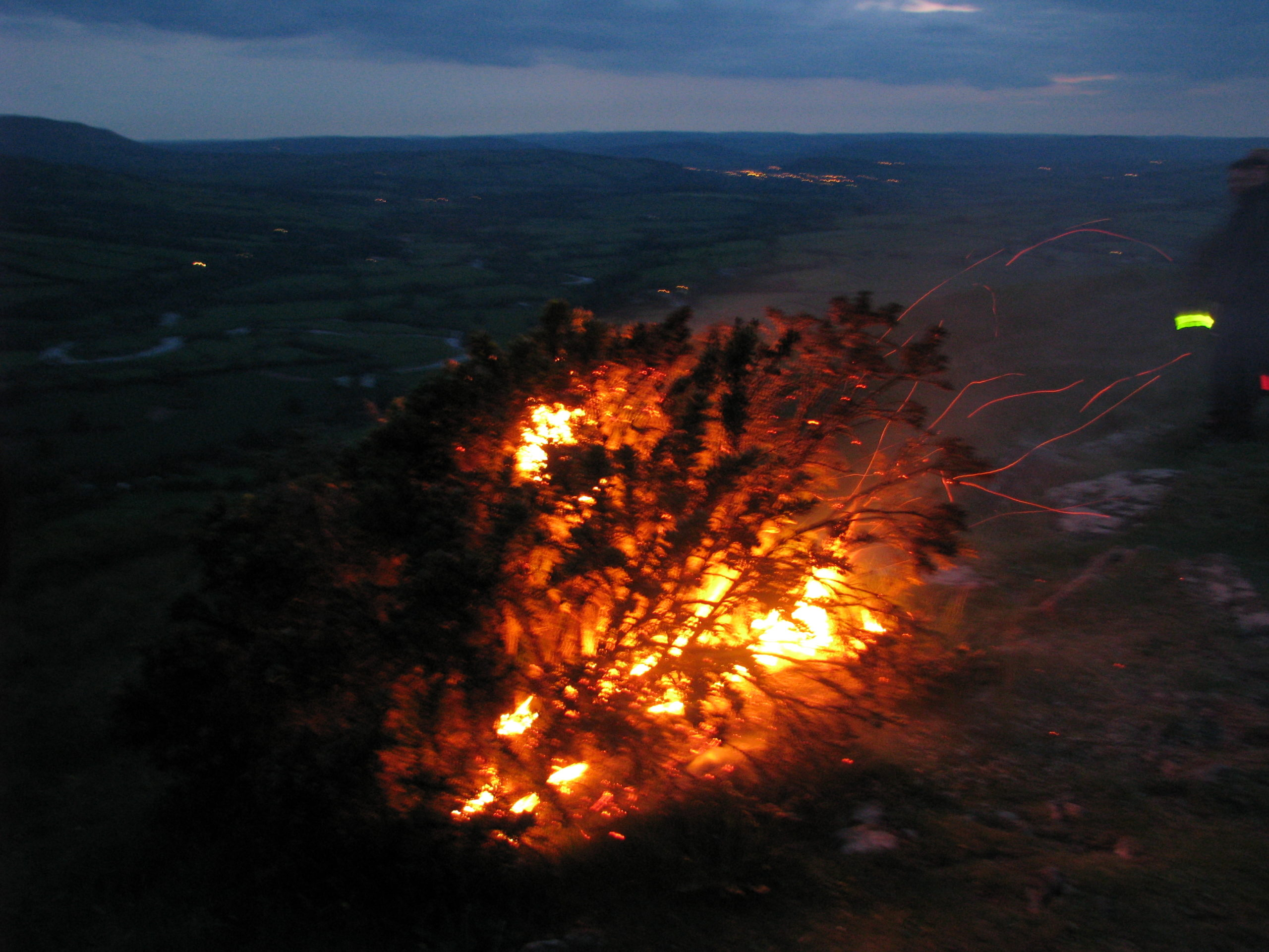 A mysterious gorse beacon on the Allt 4th June 2012