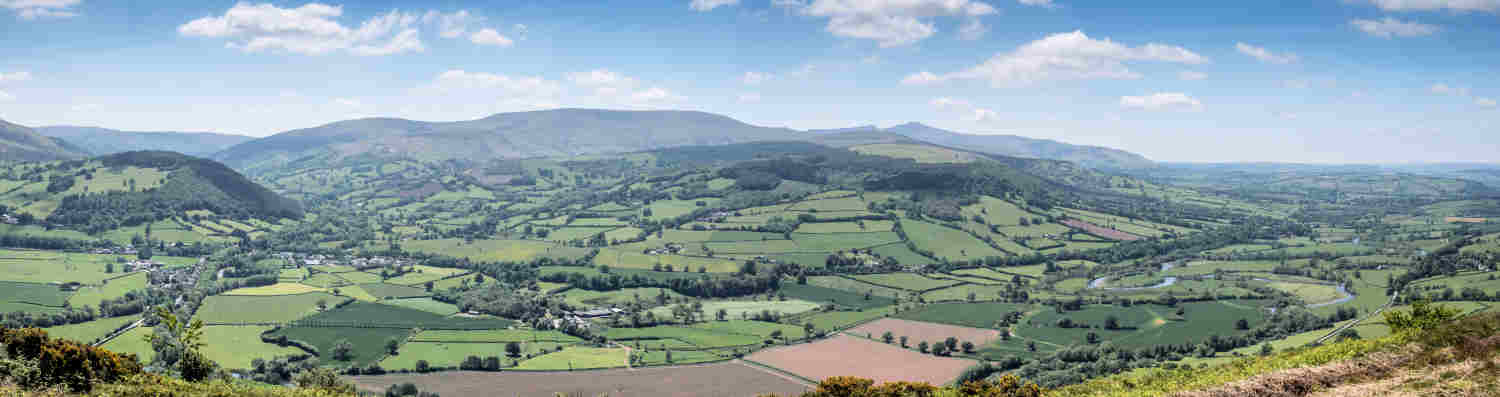 Talybont on Usk area from the Allt