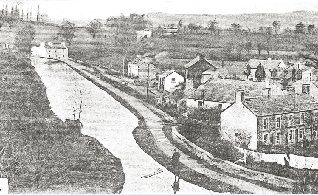 View of Talybont from the canal 1930's