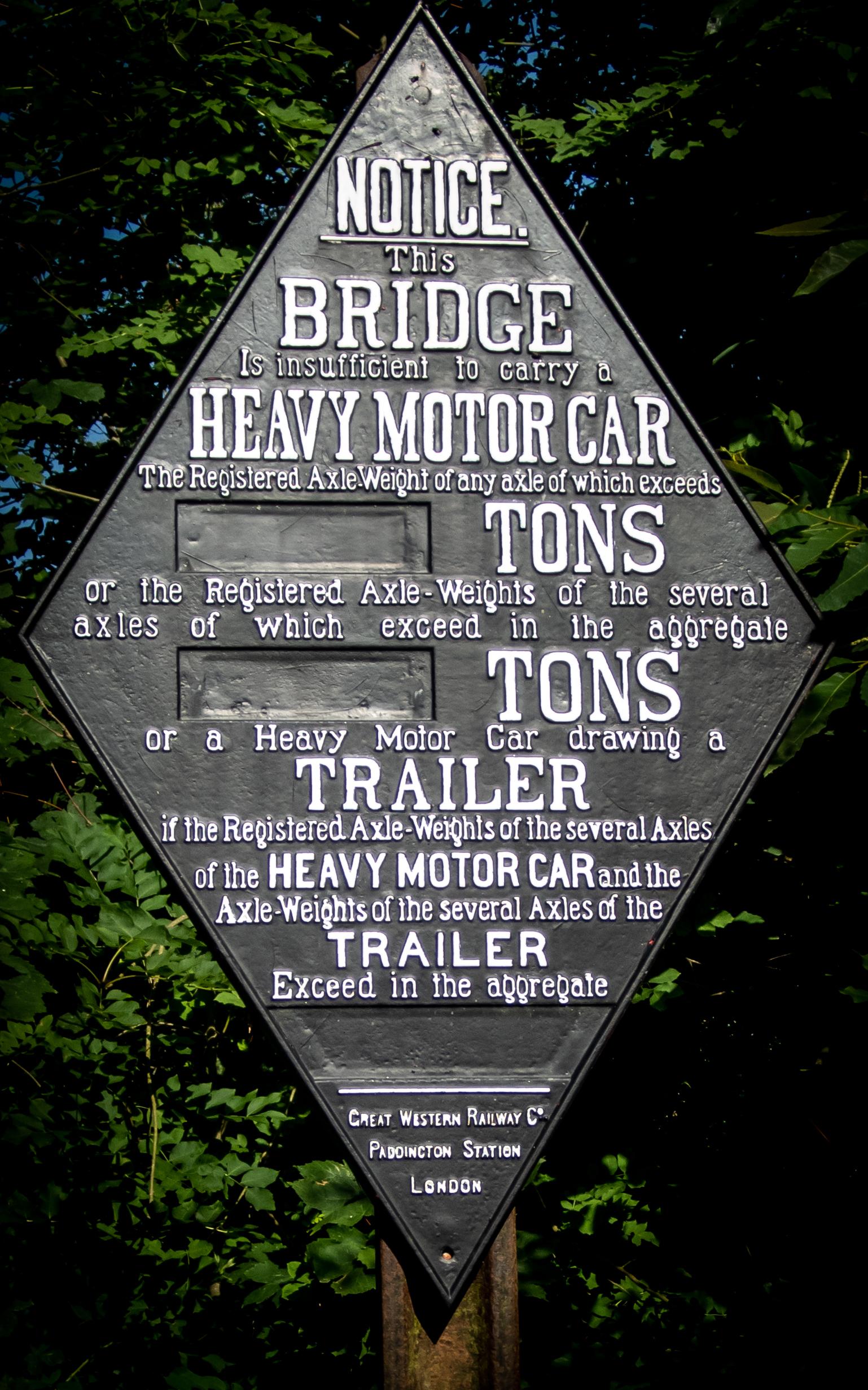 Canal Bridge sign detail