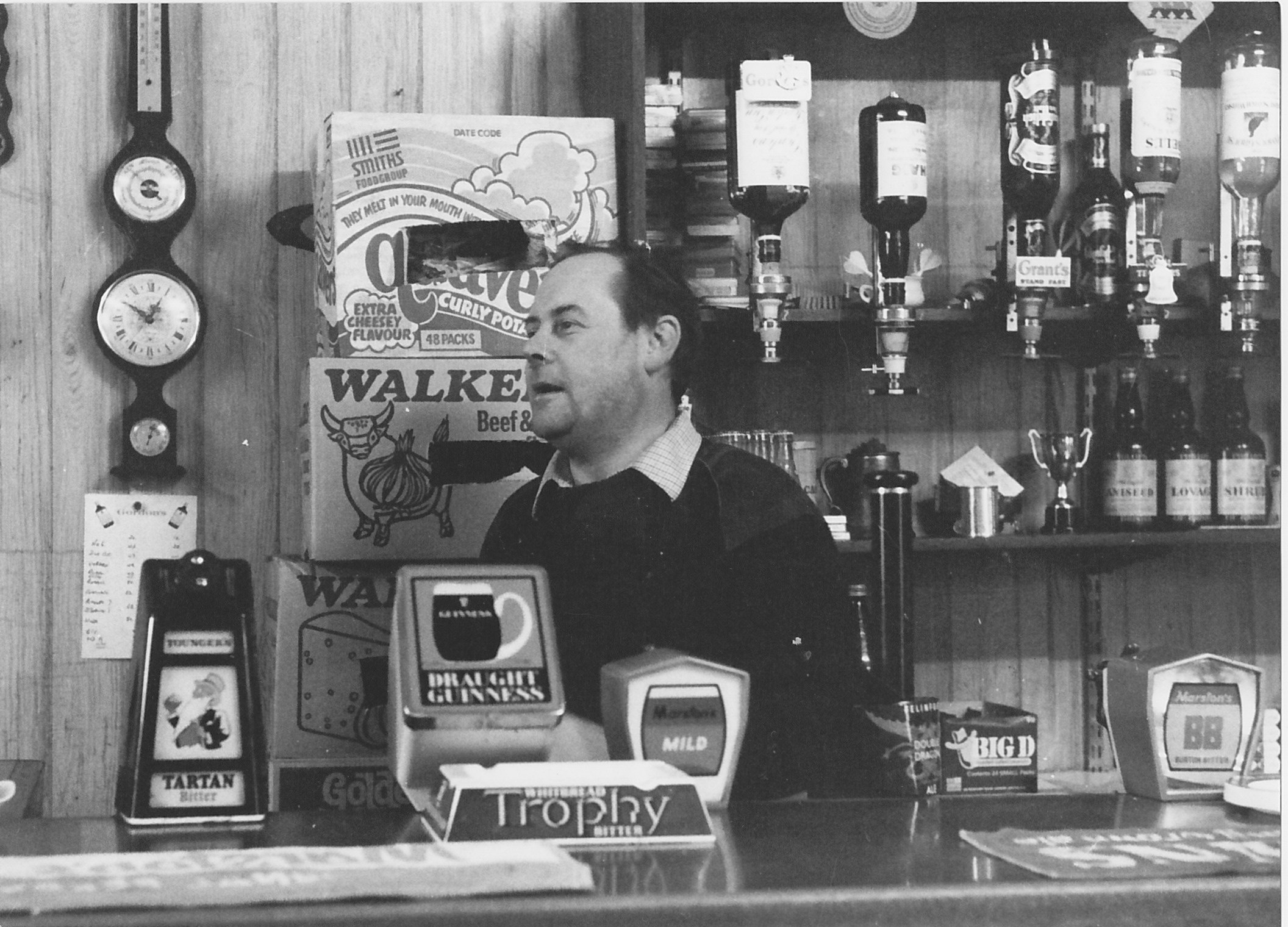 Mike Evans landlord of the White Hart