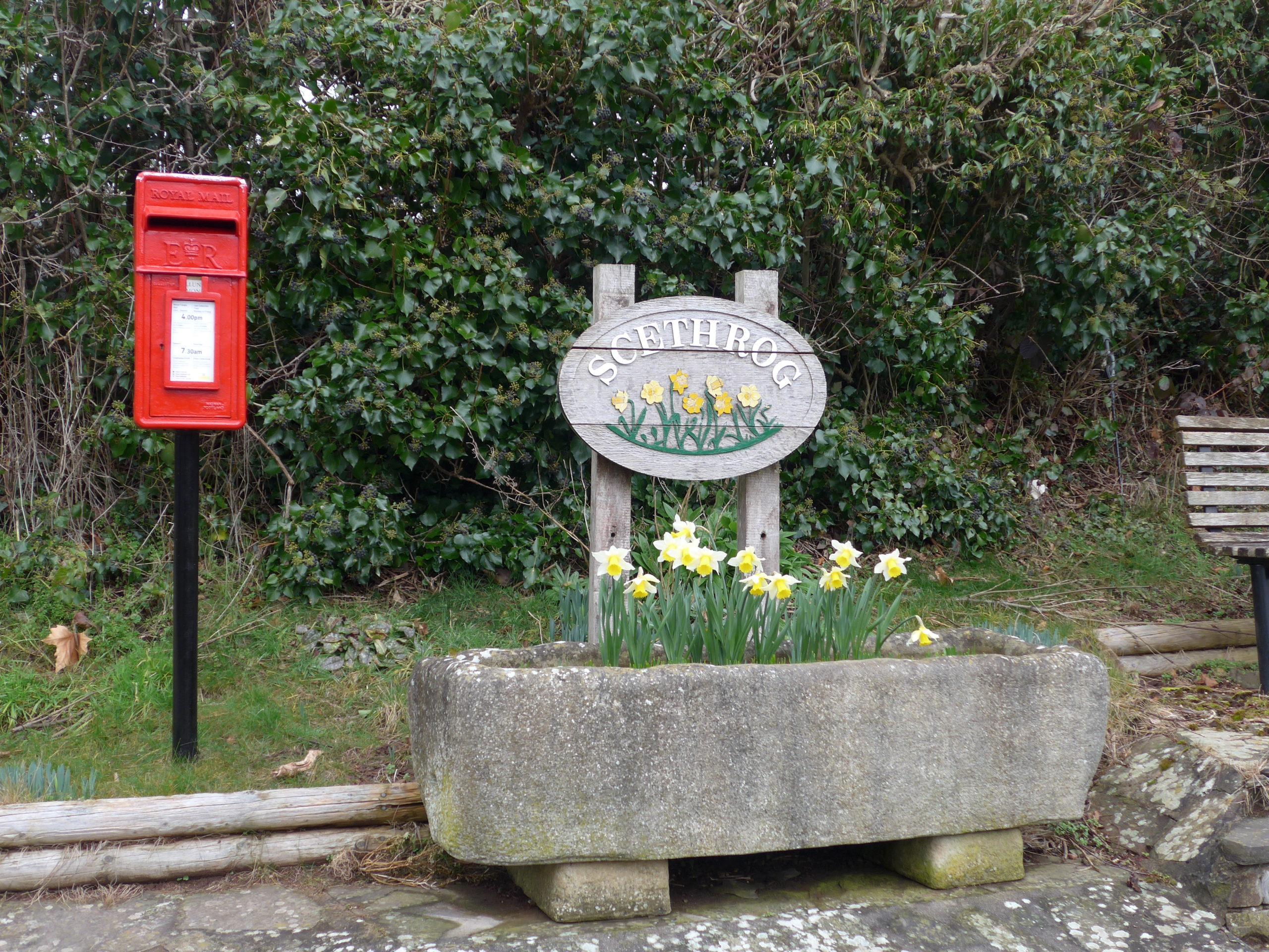 Screthrog village sign